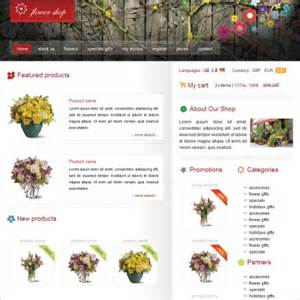 shop template flower shop template free website templates in css html