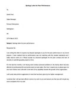 Apology Letter To For Poor Performance Sle Personal Letter Template 40 Free Sle Exle Format Free Premium Templates