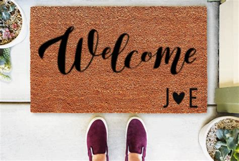 Doormats With Initials by Personalized Classic Coir Doormats From The Personalized