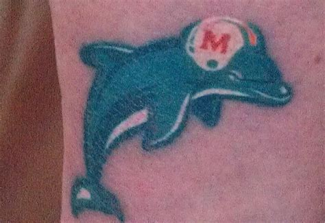 miami dolphins tattoo designs 13 best miami dolphins tattoos images on