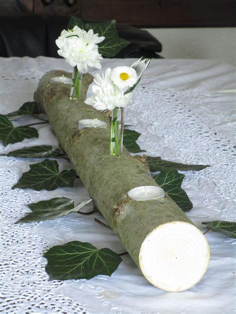 Tischdeko Mit by Nat 252 Rliche Tischdeko Baumstamm Mit Teelichtern