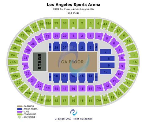 la sports arena seating chart bruce springsteen concert tickets
