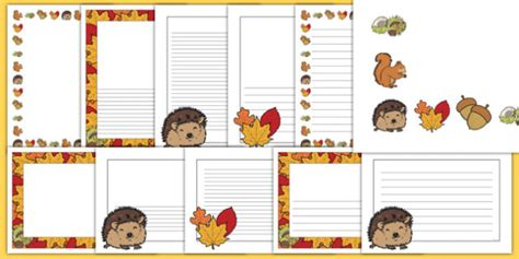autumn page borders page border border autumn holiday
