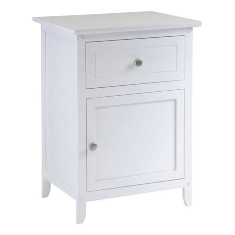 white night stands bedroom nightstand with drawer in white 10115