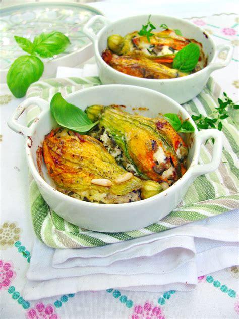 fiori di zucca ripieni al forno fiori di zucca ripieni al forno ricette chiara pallotti