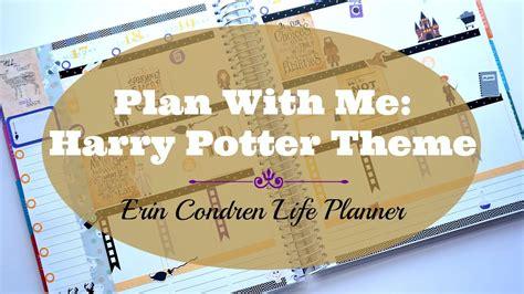 Paket 88 Theme All Theme Lifetime plan with me harry potter theme erin condren planner