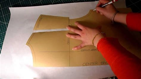 pattern cutting video tutorial pattern cutting tutorial how to increase alter pattern