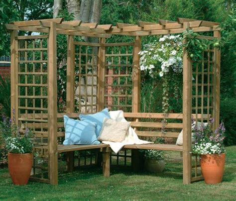 arbor with bench seat beatiful garden arches arbors and pergolas creating