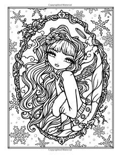 libro a whimsy girls christmas amazon com enchanted halloween a whimsy girls fantasy coloring book coloring pages