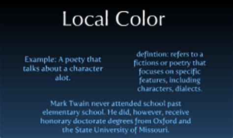 local color literature local color on prezi