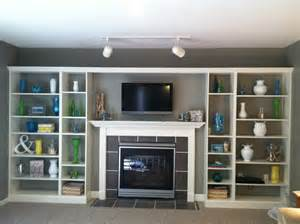 Storage In Living Room Built In Fireplace Living Room Shelves With White Wooden