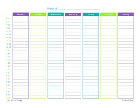 weekly hourly planner template 74 best printable calendars images on