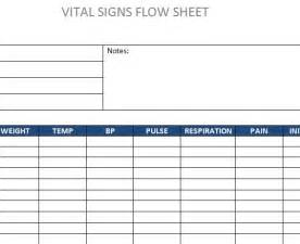 Flow Sheet Template by Vital Signs Flow Sheet 187 Template