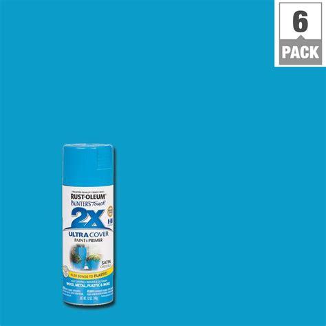 light blue spray paint rust oleum painter s touch 2x 12 oz oasis blue satin