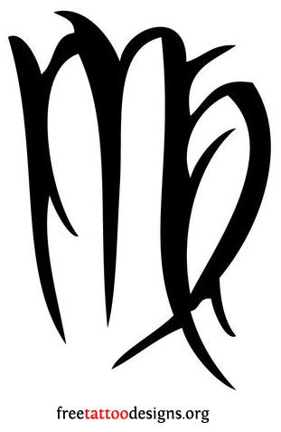virgo zodiac symbol tattoo design virgo tattoos and designs page 55