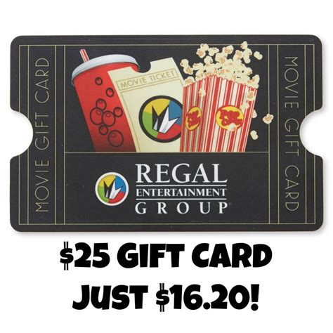 Regal Theatre Gift Cards - 25 regal cinemas gift card just 16 20
