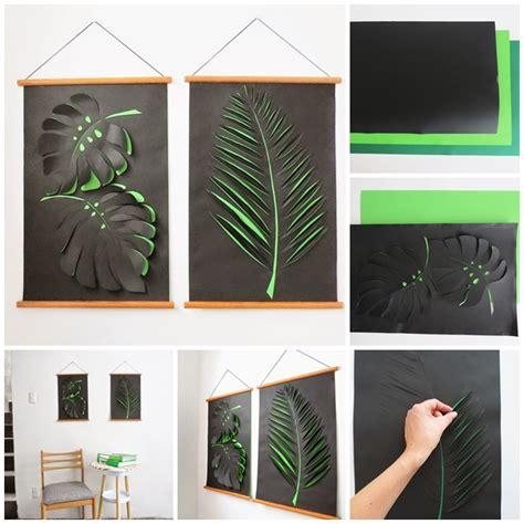 wonderful diy paper leaf wall art decoration