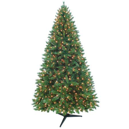 walmart christmas trees pre lit time pre lit 7 5 kennedy fir artificial tree clear lights walmart