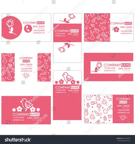 Cosmetics Business Cards Templates by Lovely Cosmetics Business Card Templates Stock