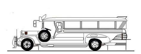 jeepney philippines drawing jeepney clipart black and white pixshark com
