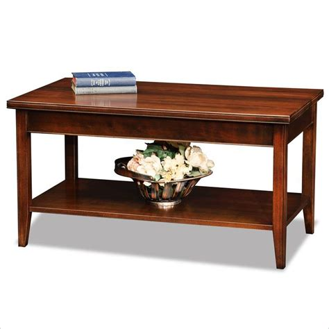 Leick Laurent Small Solid Wood Coffee Table In Chocolate Small Coffee Table Wood