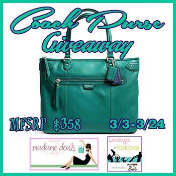 Coach Giveaway - coach purse giveaway