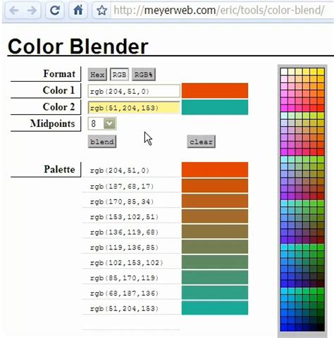 color image online how to choose uncommon colors with free tools for use in video