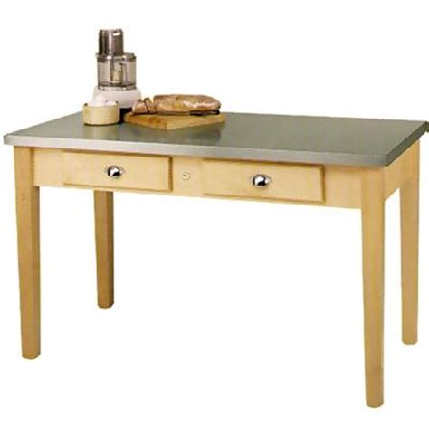 Stainless Steel Kitchen Table Top Boos Mil6030c Work Table Stainless Steel Top 60 Quot L Work Tables Zesco