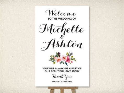 35 Best Images About Wedding Welcome Signs On Pinterest Wedding Shoes Sign Template