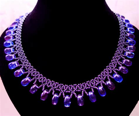 beaded chains patterns free pattern for beaded necklace galaxy magic