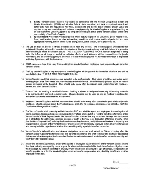 Vendor Supplier Agreement Free Download Vendor Supplier Agreement Template