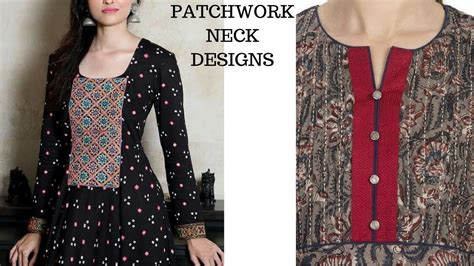 neck pattern of kurti neck designs for kurti patch work neck patterns for