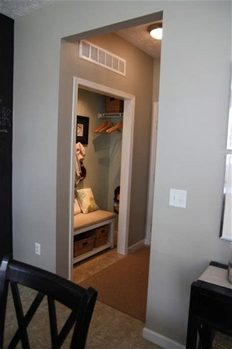 Mud Room Closet by Mini Mudroom In A Closet Home Decor Entryway Ideas