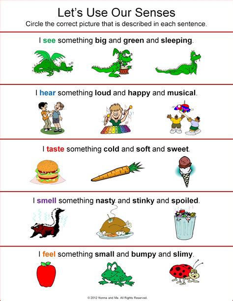 five sense worksheet new 75 five senses activities and