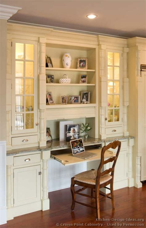 desk in kitchen design ideas pictures of kitchens traditional off white antique
