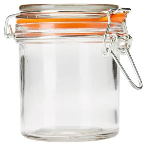 glass jars 260ml clip lid glass jar kmart