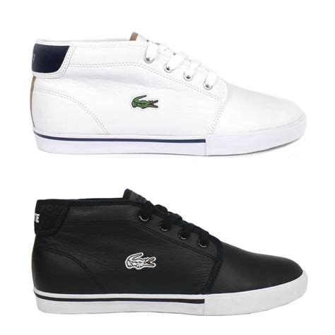 high top loafers lacoste thill shoes sneaker loafers high top leather
