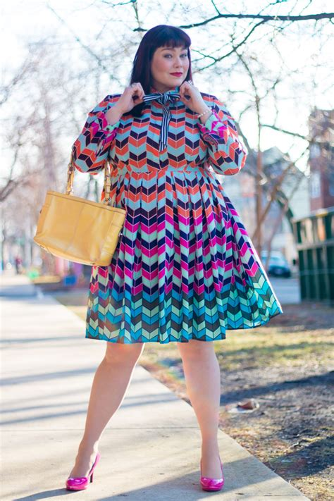 Abstrak Dress eloquii colorful abstract fit and flare plus size dress