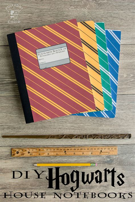 Home Decor Paper Crafts by Diy Hogwarts Inspired House Notebooks Harry Potter Craft