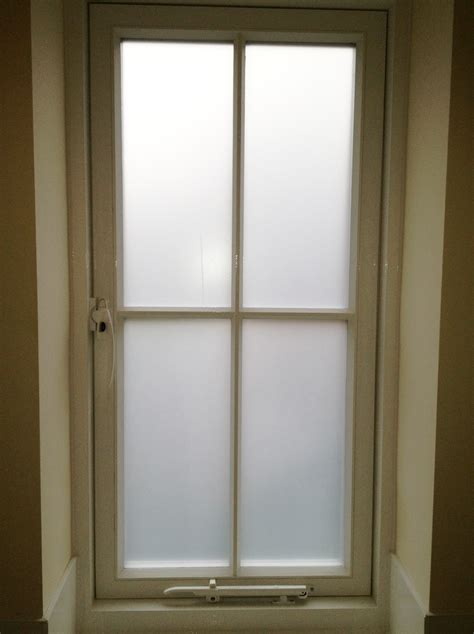 frosted windows for bathrooms bathroom windows in matt white frosted film