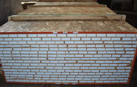 crated stack of lightweight torsion box honeycomb panels