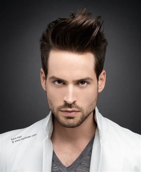mens hairstyles with gel with his hair cut around the ears and styled with gel