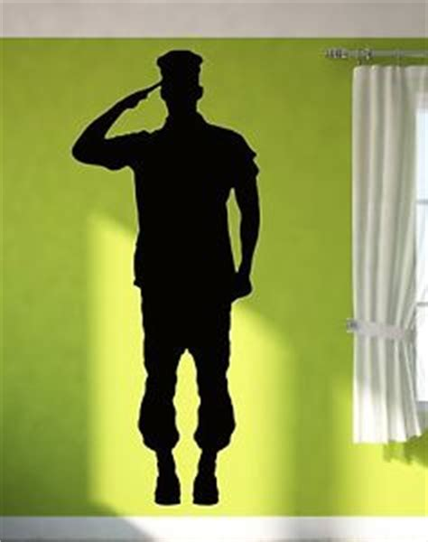 Family Wall Art Stickers wall sticker vinyl decal soldier giving salute military