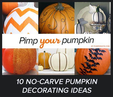 10 simple no carve pumpkin decorating ideas