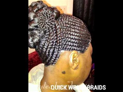 braided quick weave hairstyles quick weave braids youtube
