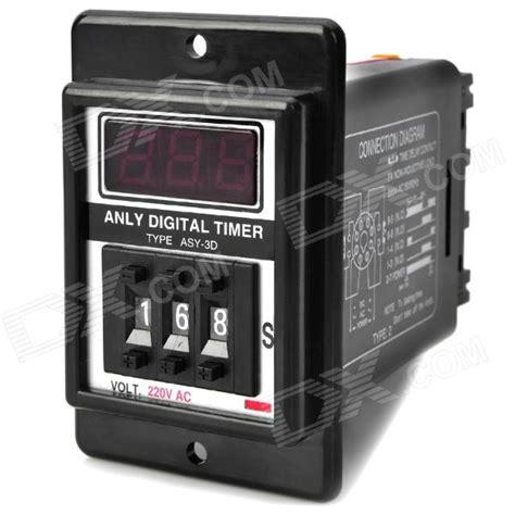 Digital Timer Ac Pln 220v Kontrol Listrik Pln 220v Atau Dc 12v 48v Ti asy 3d 1 3 lcd display digital timer black ac 220v free shipping dealextreme
