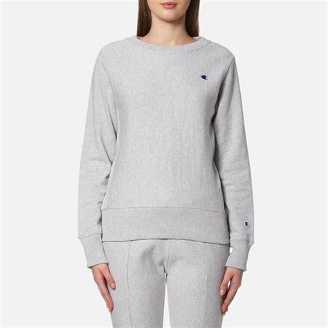 gravy boat crew neck sweatshirt chion women s crew neck sweatshirt grey womens