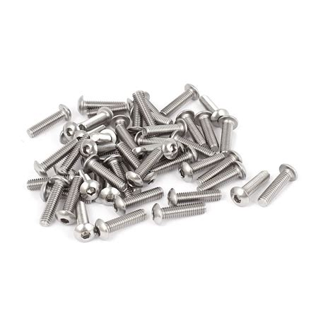 Steel 11mm Stainless Stell Jpn 100pcs 11mm m3x10mm stainless steel hex socket button