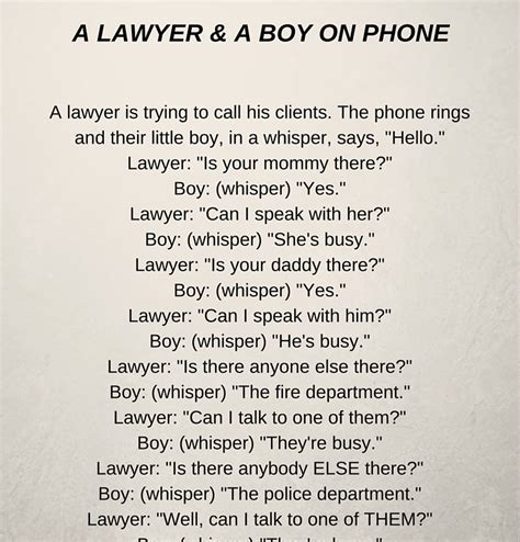 legal themes in short stories a lawyer a boy on phone funny short story funsalot