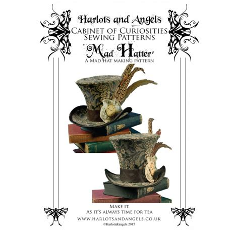 Mad Hatter Hat Card Template by Mad Hatter Hat Pattern Gt Millinery Patterns Gt Home Gt Vena